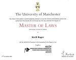 The University of Manchester: Master of Laws